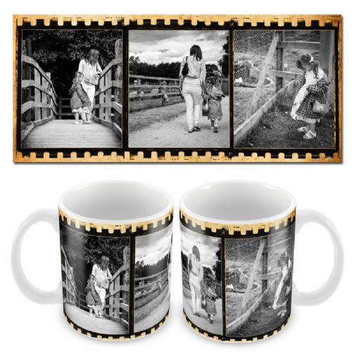 Vintage Film Stip X3 Photo Mug